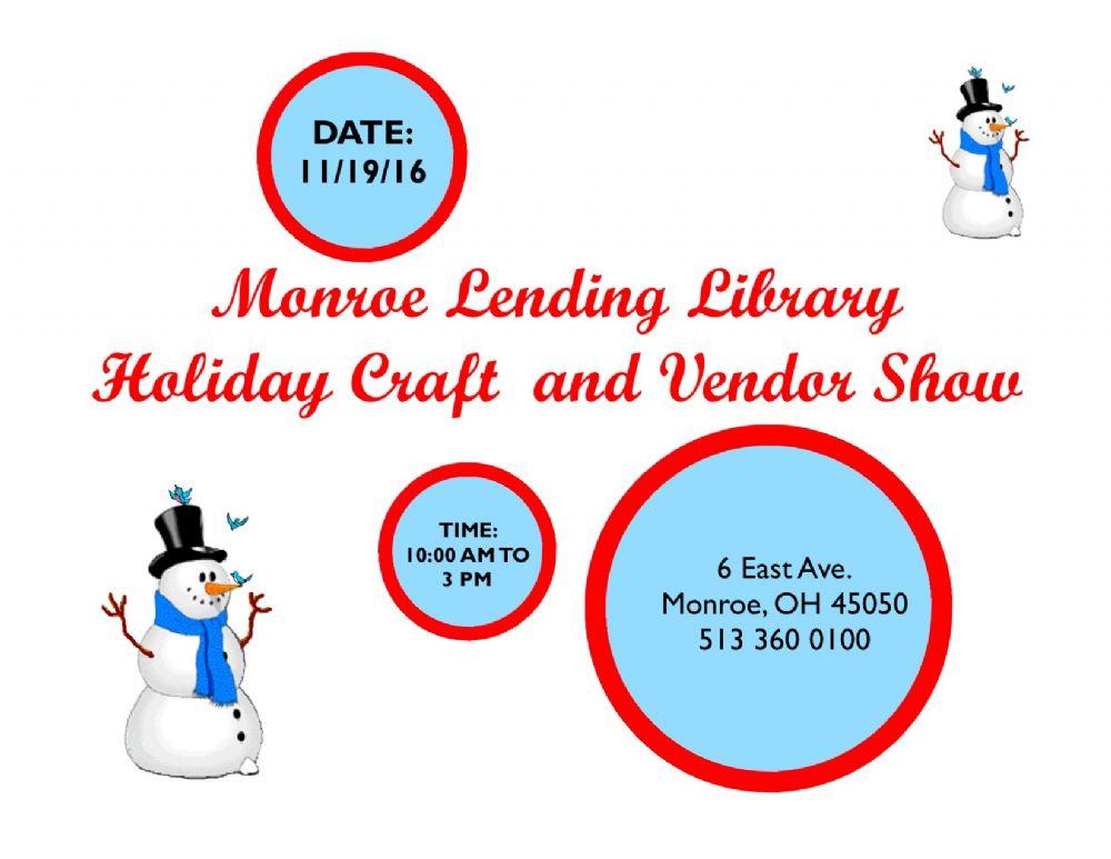 Mll craft vendor craft show the voice of monroe ohio for Ohio holiday craft shows